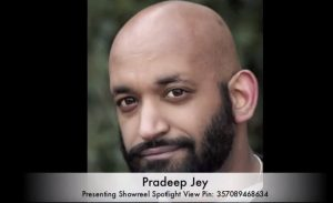 Pradeep Presenting still, london showreel editor, showreels,